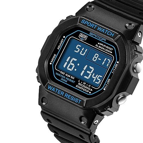 Fashion SANDA Luxury Brand Watch Men Outdoor Sport Couple Watch Waterproof LED Digital Watches for Women
