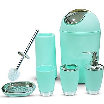 Charmant RGUSEN Mint Bathroom Accessories Sets, 6 Piece Luxury Bath Accessories Sets  Complete By, Lotion