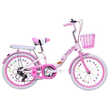 LETFF Bicicleta Plegable para Adultos 20 Pulgadas niños y Mujeres Bicicleta de amortiguación de Velocidad Variable