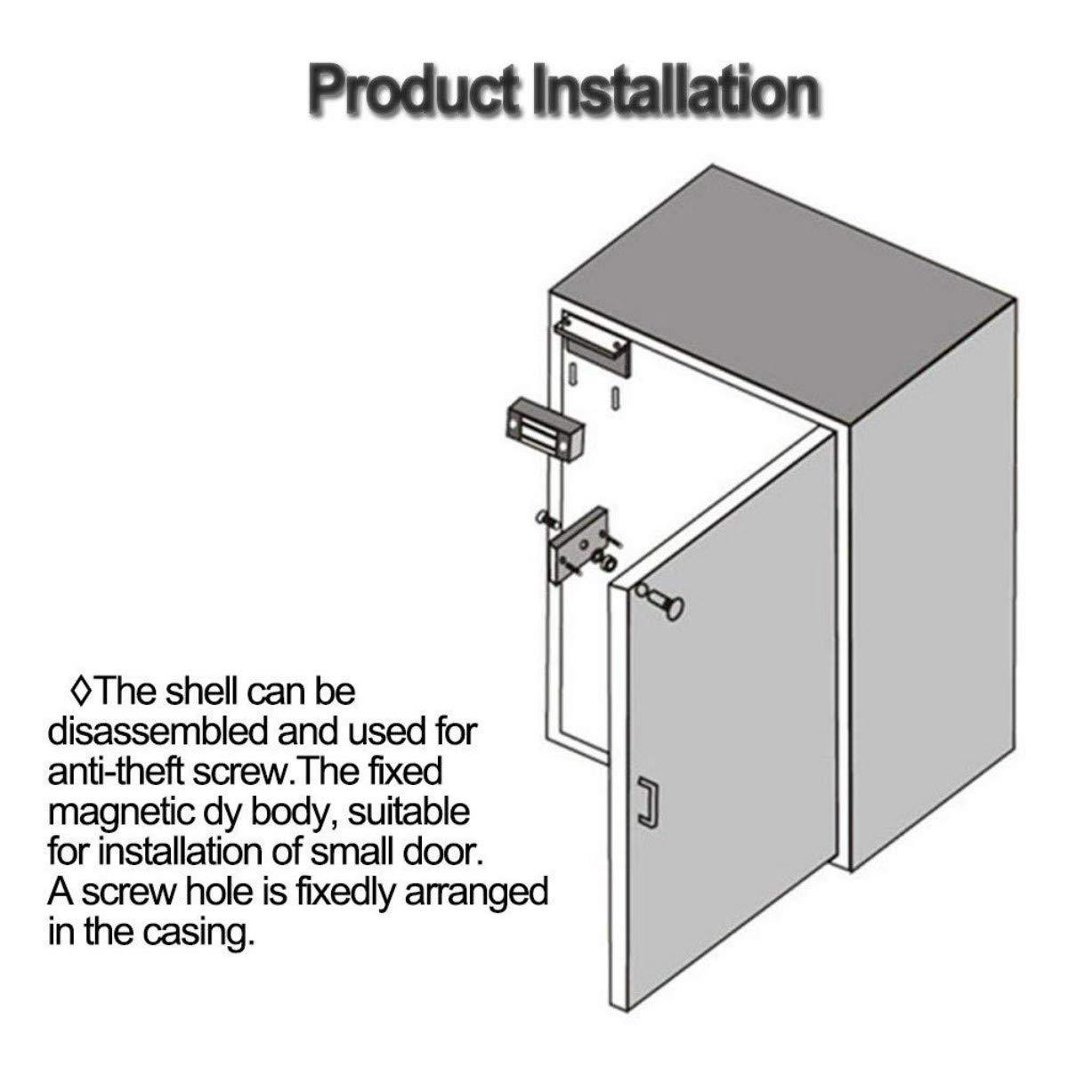 verrouillage de porte magn/étique DC 12V s/écurit/é ext/érieure et int/érieu YAVIS Serrure /électromagn/étique /électrique magn/étique 60 kg 135Lbs pour syst/ème de contr/ôle dacc/ès