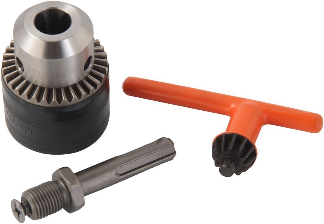 "KSEIBI 291113 1/2"" Drill Chuck with SDS Plus Adaptor and Grip Chuck Key, 3-Piece"