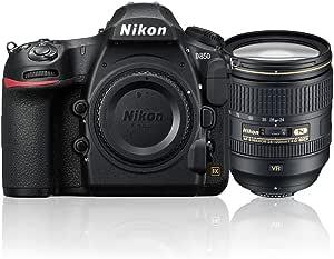 Nikon D850 + AF-S 24-120mm f/4 ED VR Single Lens Kit, Black