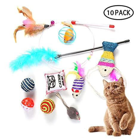 Umiwe Juego de Juguetes para Gatos Variedad Catnip Juego de ...