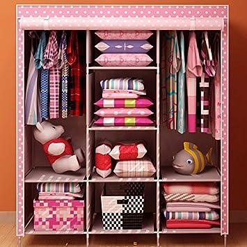 Amazon.com: Generic Portable Closet Folding Clothes Wardrobe ...