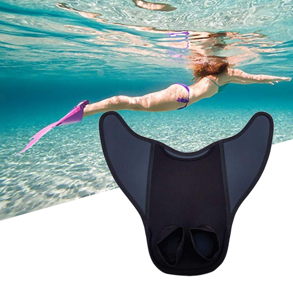 heresell Swim Fins Kids Childrens One Piece Swim Fin Diving Swimming Training Flippers blue
