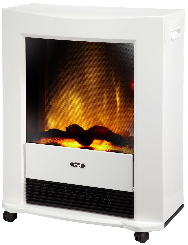 #EWT 206145 elektrisches Kaminfeuer Bartok, weiß#