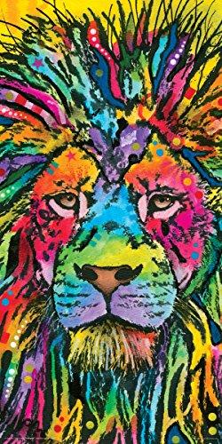 Dean Russo Lion Modern Animal Decorative Art Print (Unframed 12x24 Poster)