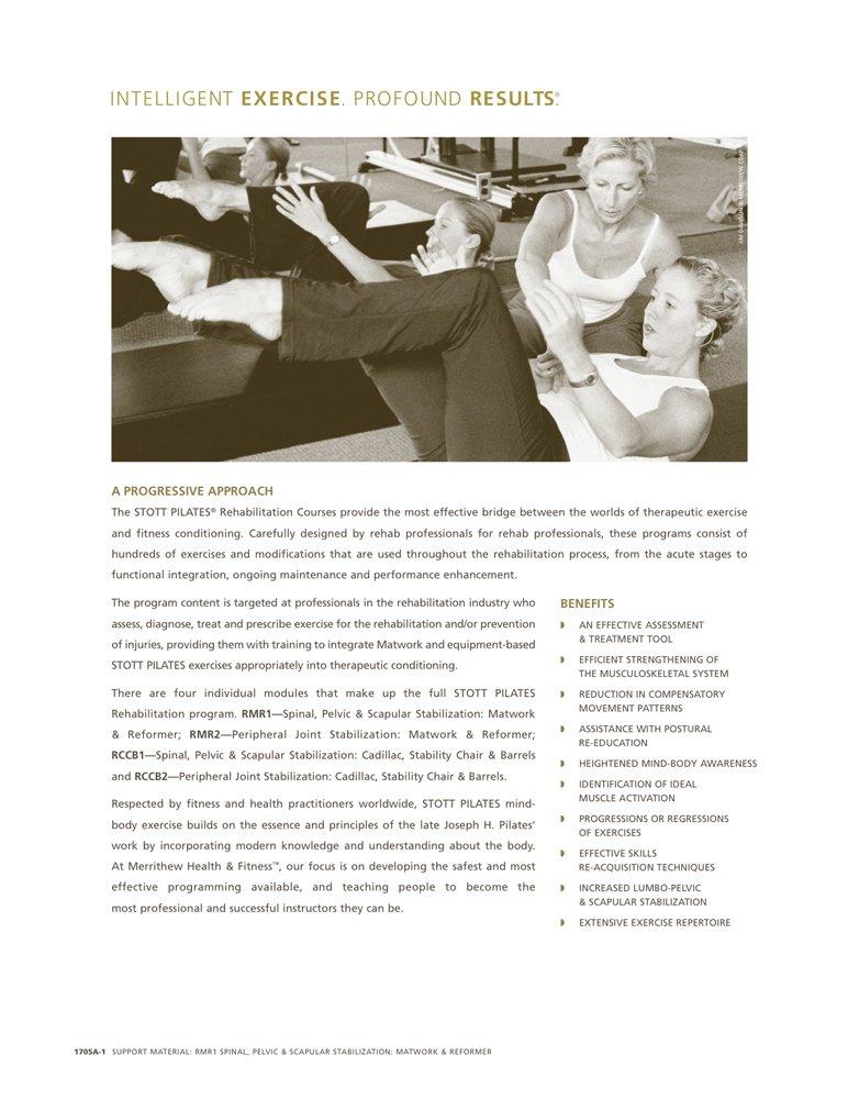 Amazon Stott Pilates Rehab Manual Rmr1 Support Material