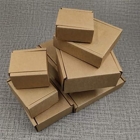 Caja Regalo Bonitas Para 5 Unids/Lote Caja De Joyería De Papel Pequeña Cajas De Embalaje De Cartón Kraft Cajas De Dulces De Boda Cajas De Regalo De Navidad 6.5x5x2cm marrón: Amazon.es: Hogar