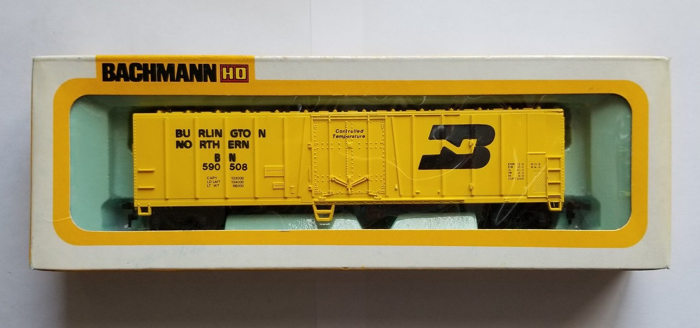 Bachmann HOスケールBurlington Northern 51 ' Reefer Boxcar B072MDDJVV