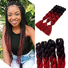 3Pcs/Lot Ombre Braiding Hair Extensions 24″ 100g/pcs Synthetic Jumbo Braids Hair Extensions for Twist Crochet Braids