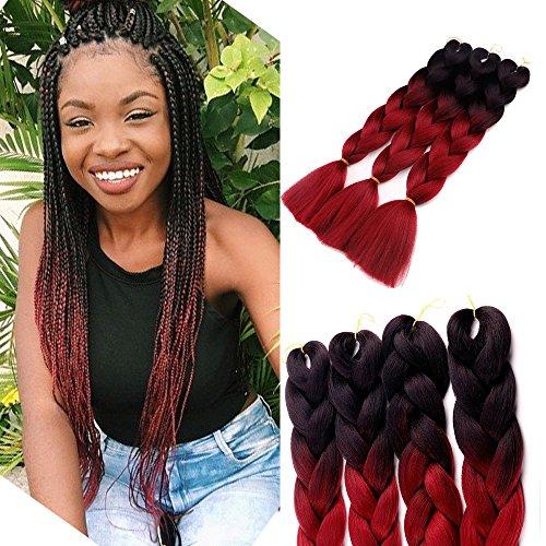 3pcslot ombre kanekalon braiding hair extensions 24� 100g