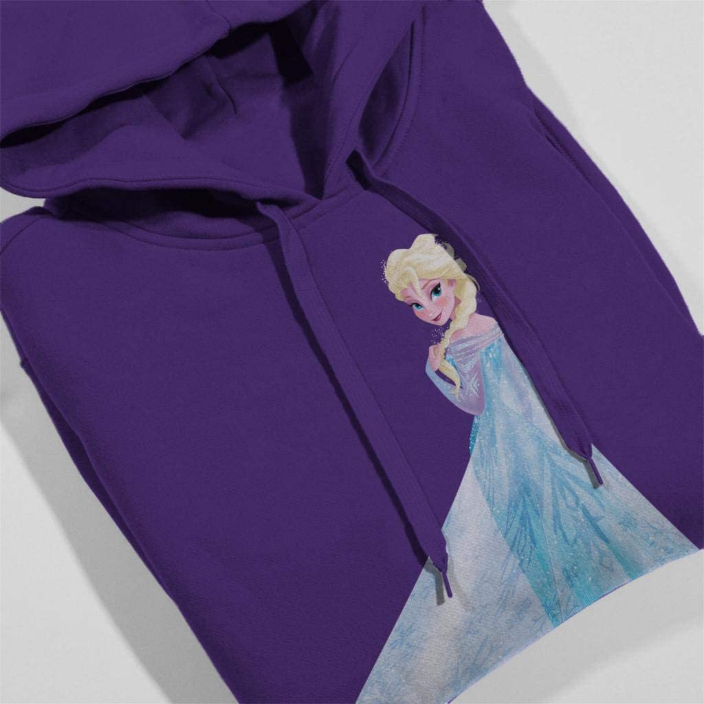 Disney Frozen Elsa Looking from Behind Kids Hooded Sweatshirt