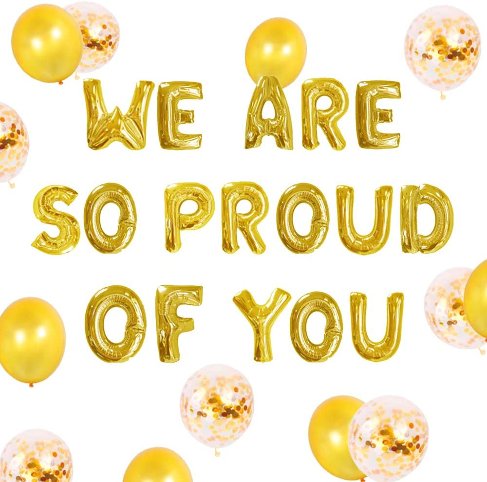 Set of 11 We Are So Proud of You Balloon Graduation Banner Congratulations Banner Graduation Party Decorations Graduation Commencement Decoration for College High School