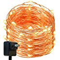 DecorNova 120 LEDs Flexible Copper Wire Starry String Lights
