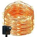 DecorNova 120 LEDs Flexible Copper Wire Starry String Lights