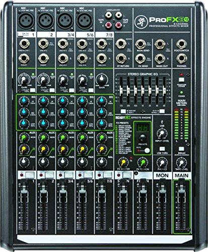 1604 Mackie Pro Vlz - Mackie PROFX8V2 8-Channel Compact Mixer with USB and Effects
