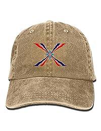 Assyrian Flag Plain Adjustable Cowboy Cap Denim Hat for Women and Men