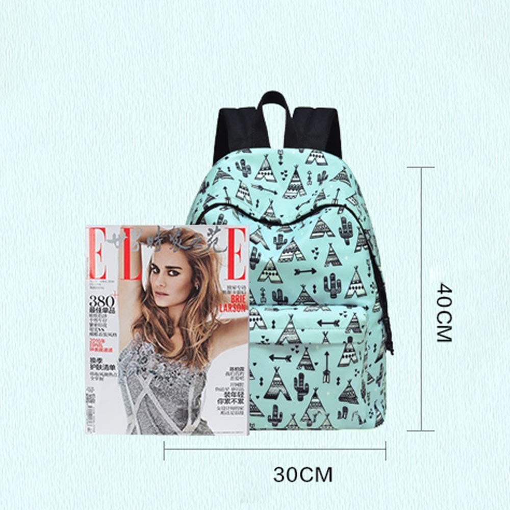XFRJYKJ-Cartoon Backpack Fashion Bag Female Canvas Waterproof Korean Version of The Tide Campus Backpack Bag Wild Backpack Fresh and Lovely