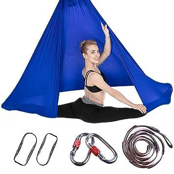 AYUE® Conjunto Aérea Hamaca Yoga, Premium Seda Aérea Yoga ...
