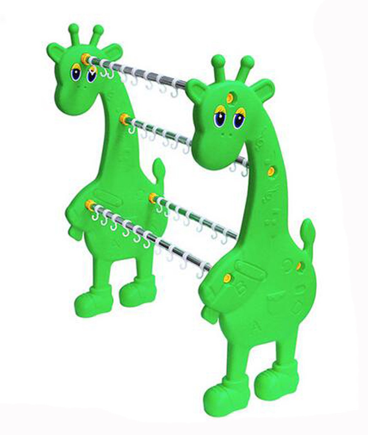 Kindergarten Cartoon Animal Modeling Plastic Towel Rack Items Classification Rack Shelves,Green