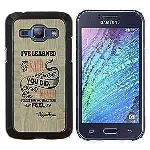 TECHCASE---Cubierta de la caja de protección para la piel dura ** Samsung Galaxy J1 J100 ** --La gente se olvidará