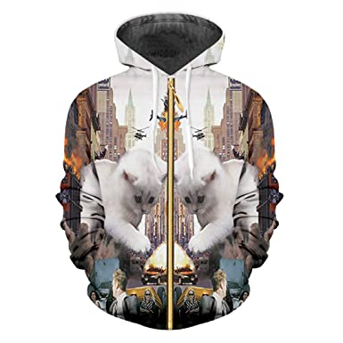 Sudaderas Hombre Hip Hop Leisure Zipper Jacket Print Animal Cat 3D Hoodie Sweatshirt Animal Cat 6XL