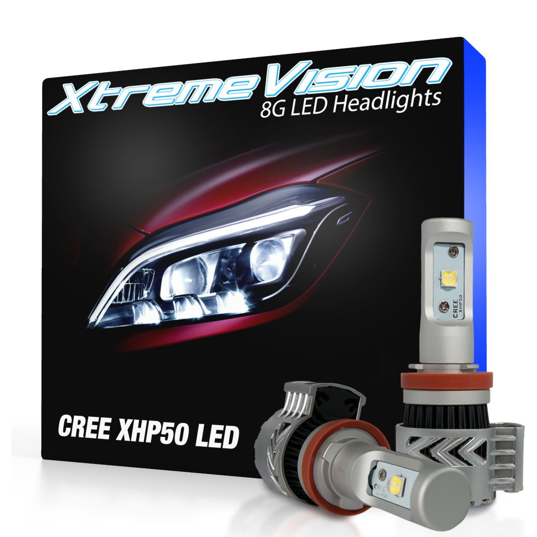 Xtremevision 8g 72w 12000lm H11 Led Headlight Exciting Scout Crafts 1 Or 2 Headlamp Conversion Kit 6500k Xhp50 Cree Automotive