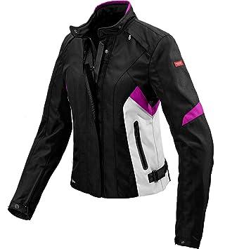 Chaqueta Moto Spidi Flash Lady H2OUT negro/fucsia CE: Amazon.es: Coche y moto