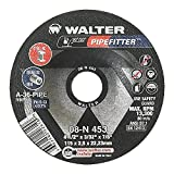 Walter Pipefitter Grinding Wheel, Type 27, Round Hole, Aluminum Oxide, 4-1/2'' Diameter, 3/32'' Thick, 7/8'' Arbor, Grit A-36-PIPE (Pack of 25)