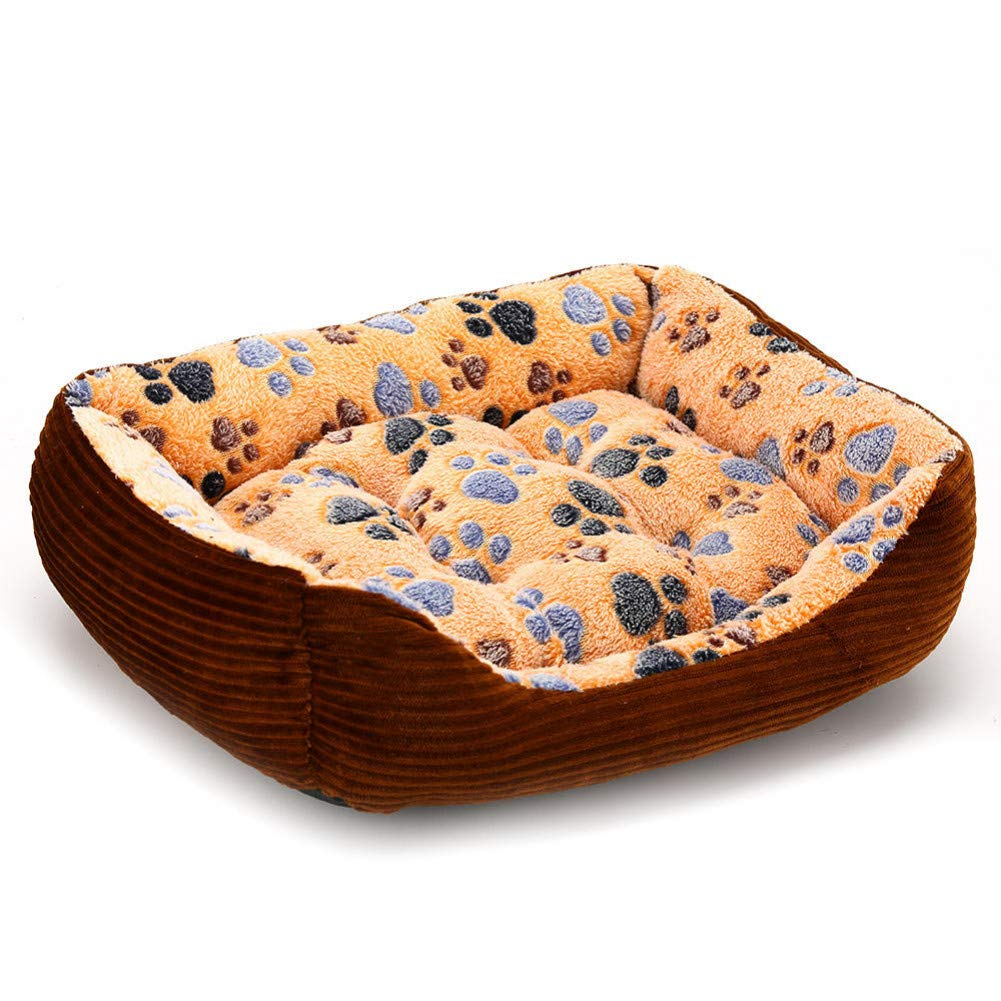 Coffee L 60x45x15cm CZHCFF Rectangular dog bed with legs for hot dogs pet cat dog house sofa bed comfortable cotton cushion small dog