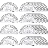 eBoot 36 Pack Plastic Protractor Math Protractors 180 Degrees Protractors for Angle Measurement Student School Office Supply, 4 Inches, Clear