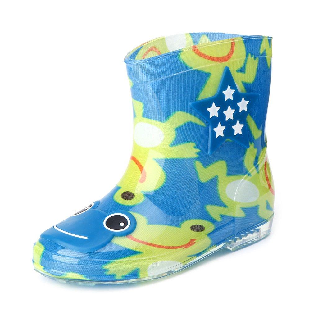 ヴァージニアウルフの家Kids Girl Boy Watertight通気性Cartoon Jelly Rainshoesノンスリップ雨ブート靴Mid Calfオーバーシューズ B074N3CB2H 9|ライトブルー ライトブルー 9
