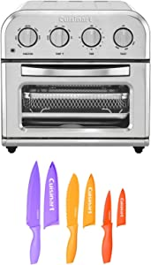 Cuisinart TOA-28 Air Fryer Toaster Oven with 6-Piece Nonstick Color Chef Knife Set Bundle (2 Items)