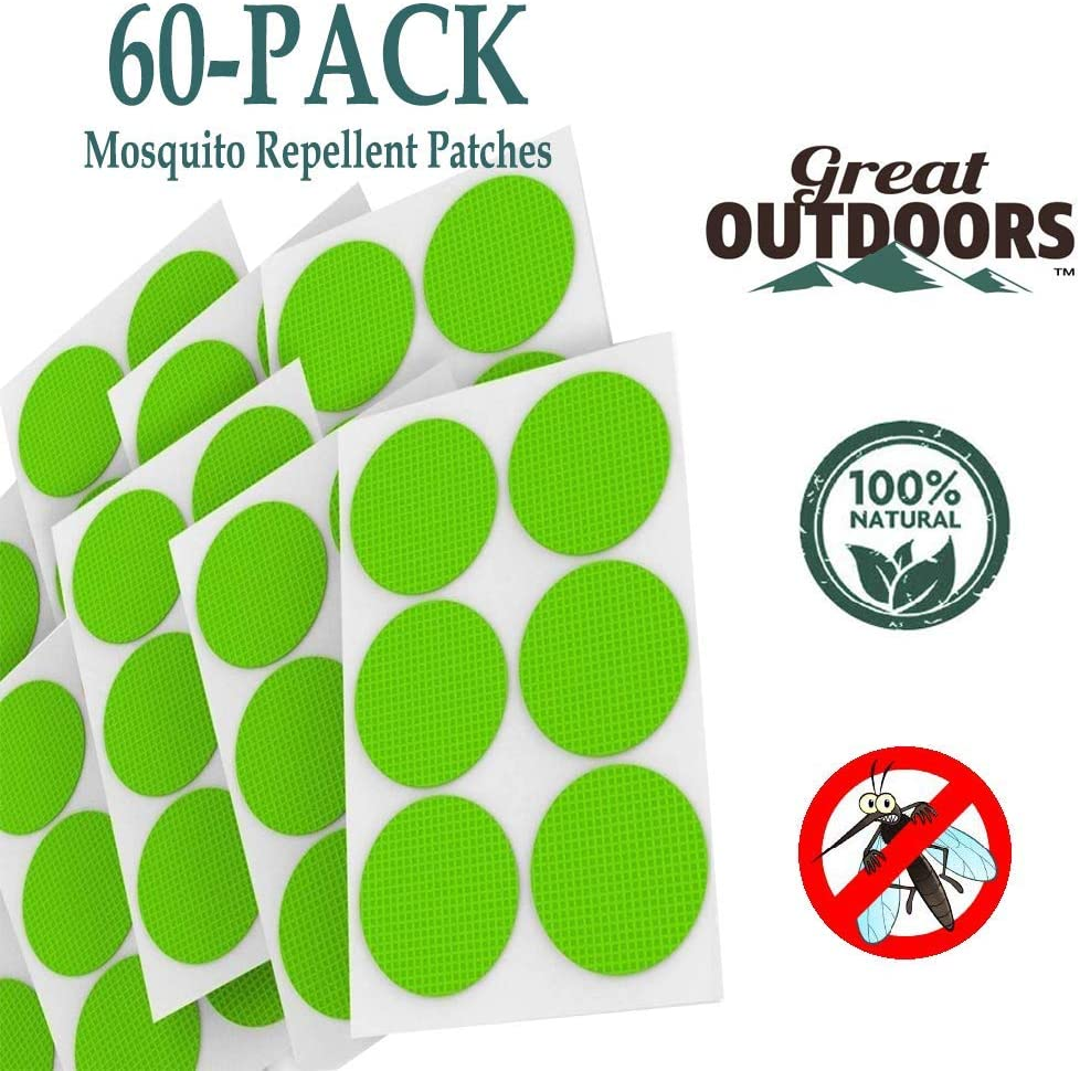 moustiques naturels pour lext/érieur 60-Pack, Blue patch anti Patchs anti protection contre les insectes avec bandes pour 24 heures moustiques