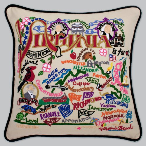 Catstudio Virginia Pillow by Catstudio Embroidered Pillow