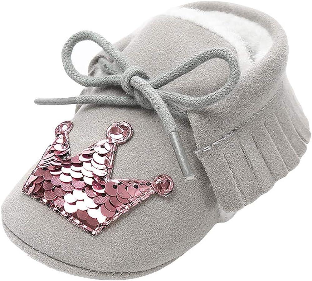Lurryly❤Newborn Baby Premium Soft Sole Prewalker Bowknot Anti-Slip Shoes Infant//Toddler