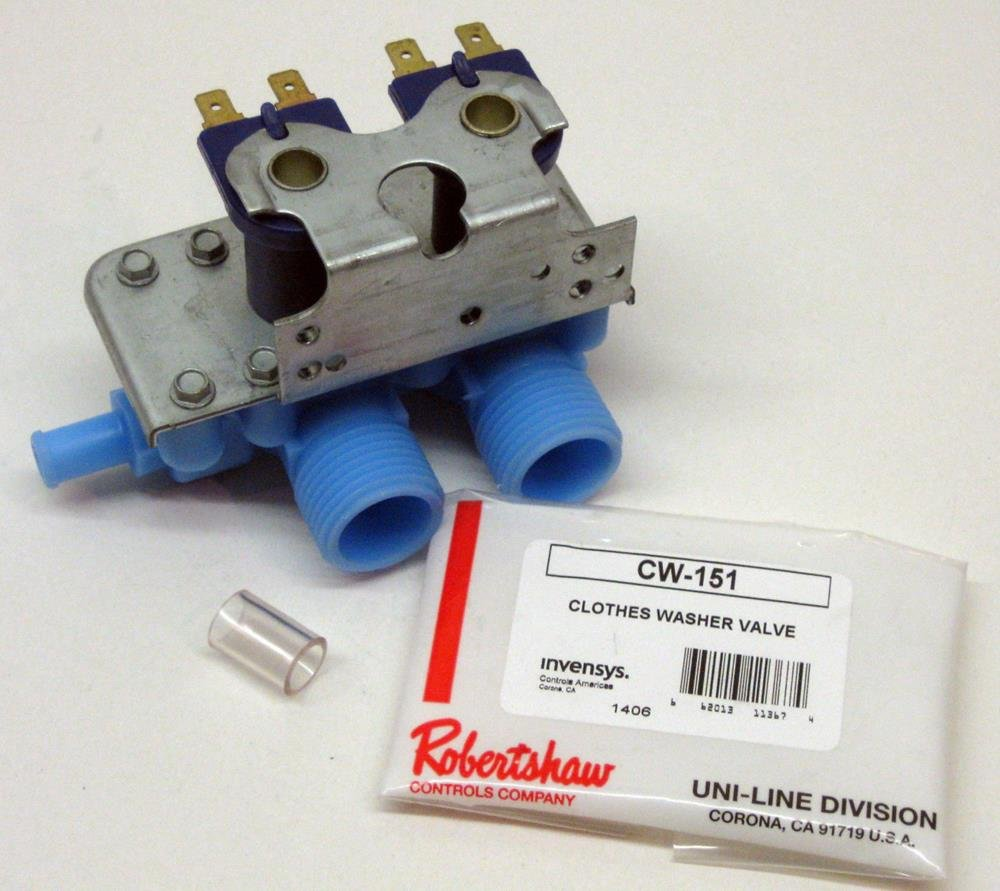 Major Appliances CW151 Washer Water Solenoid Inlet Valve for GE WH13X81 AP2618763 PS270305
