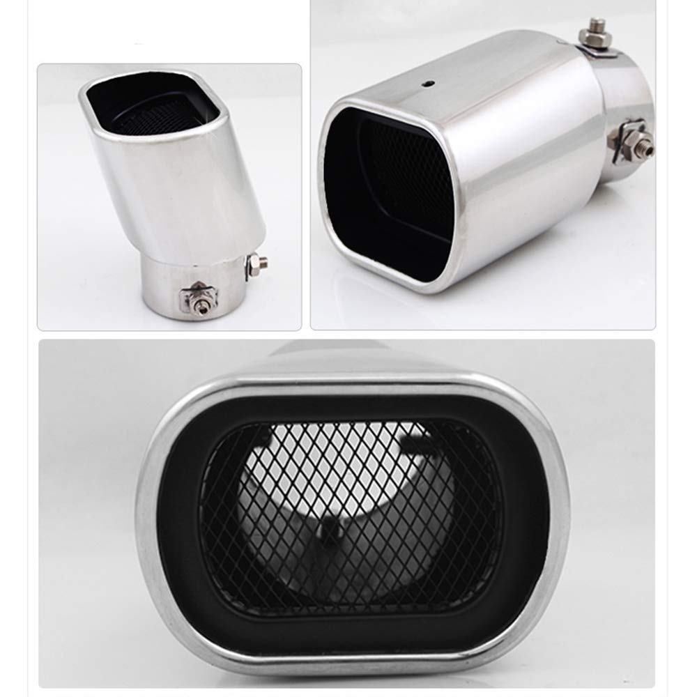 62mm Car Exhaust Tail Pipe Muffler Stainless Steel Double Oblique Outlet End Pipe Paint Blue