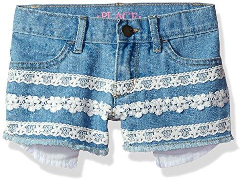 The Children's Place Girls' Toddler Denim Shorts, Vivid Wash 81256 10 (Best Of Vivid Girls)