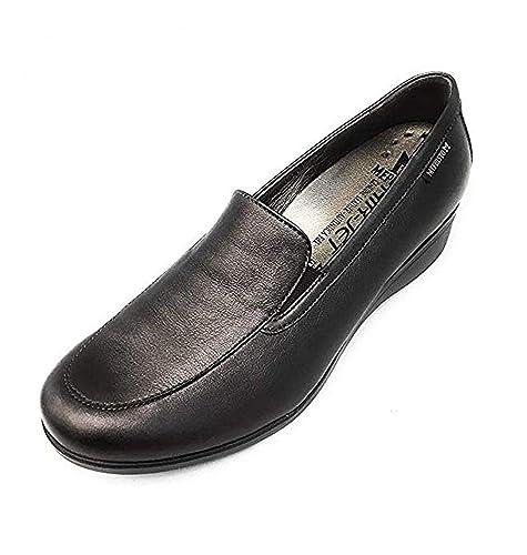 Mephisto - Mocasines de Charol para Mujer Gris Steel: Amazon.es: Zapatos y complementos