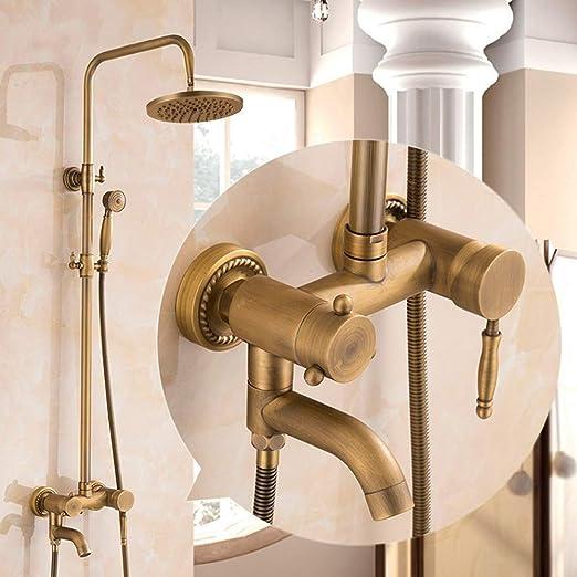 GXFC Columna de Ducha Antiguo Cobre Sistema de Ducha de baño ...
