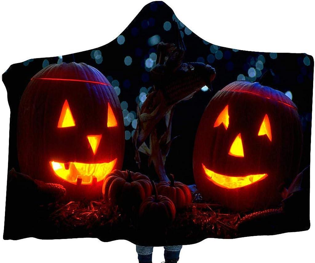 Amazon Com Fedulk Halloween Pumpkin Pattern Wear Costume Home Blanket Scarf Children S Hooded Shawl Wraps A Clothing