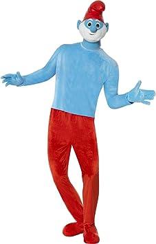 Premium Deluxe traje de Papá Pitufo Papá Pitufo Disfraz Papá ...