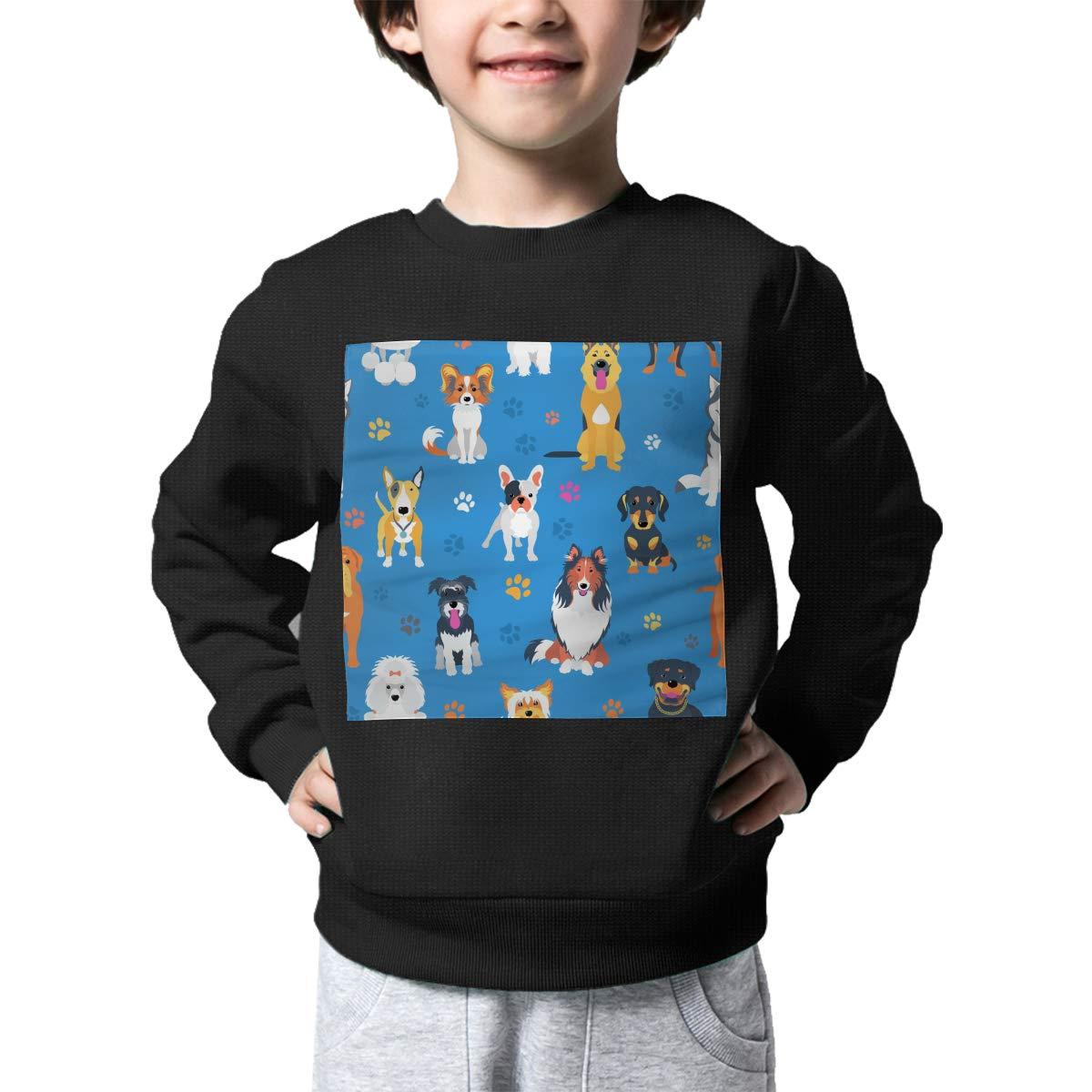 NJKM5MJ Boys Girls Dogs Pattern Lovely Sweaters Soft Warm Unisex Children Kids Sweater