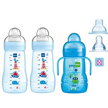 MAM 4er SET Flaschen Babyflaschen Easy Active Baby Bottle Girl