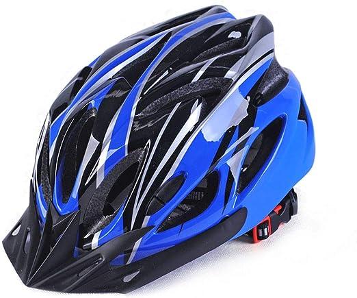 Equipo de ciclismo Ajustable Ciclismo de carretera Bicicleta de montaña Casco para bicicleta Acolchado interior ultraligero Protector de barbilla y casco de seguridad VisorAdult Ciclo casco de la bici: Amazon.es: Hogar