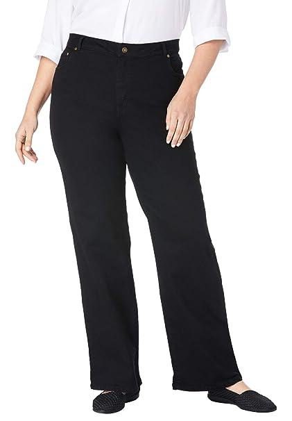 Amazon.com: De la Mujer Plus Tamaño Altura 5-Pocket de ancho ...