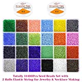Beads for Bracelets, Anezus 14400 Pcs Pony Seed