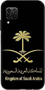 Okteq Clear TPU Protection and Hybrid Rigid Clear Back Cover Compatible with Huawei Nova 7i - Kingdome of Saudi Arabia white black gold